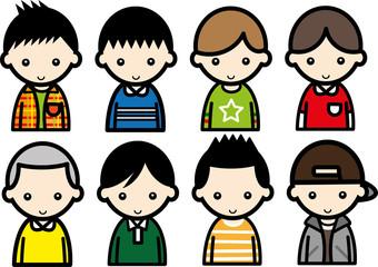 男の子・8パターン