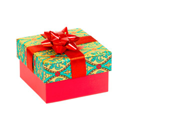 Christmas gift, present isolated, background