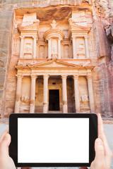 photo of Treasury Monument in antique city Petra