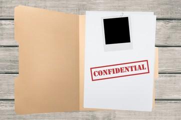 File, Confidential, Secrecy.