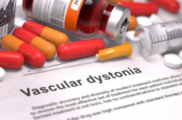 Vascular Dystonia Diagnosis. Medical Concept.
