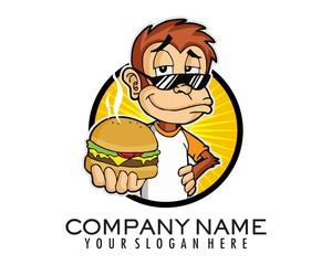 monkey show off burger