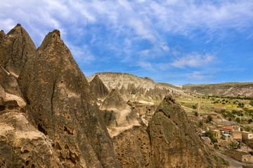 Ancient cave monastery Cavusin, Cappadocia, Turkey