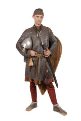 Norman knight dressed warrior 2nd half of the 11th century.
