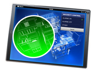 Home security control tablet app