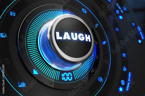 Laugh Controller on Black Control Console.