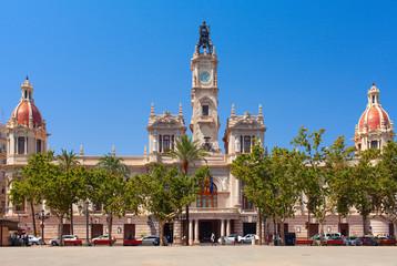 Placa del Ajuntament. Largest square of the city of Valencia