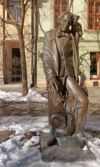 Statue of Hans Christian Andersen in Bratislava.