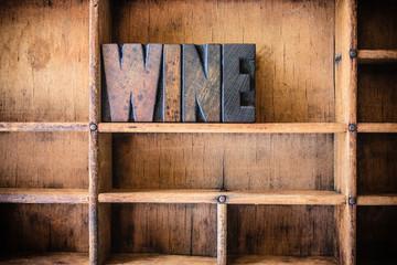 Wine Concept Wooden Letterpress Theme