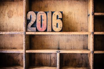 2016 Concept Wooden Letterpress Theme