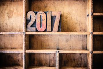 2017 Concept Wooden Letterpress Theme