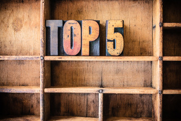 Top 5 Concept Wooden Letterpress Theme