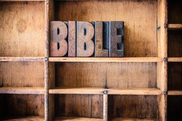 Bible Concept Wooden Letterpress Theme