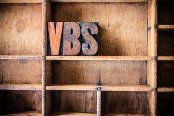 VBS Concept Wooden Letterpress Theme