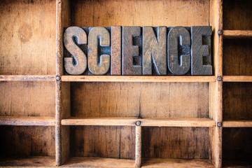 Science Concept Wooden Letterpress Theme