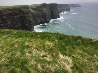 dramatic view of cliffs and sea at Cliffs of Moher,Ireland