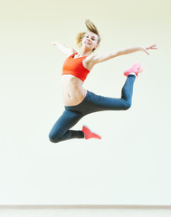 aerobics jumping fitness exercises