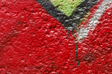 Abstract red background with black,green and white details
