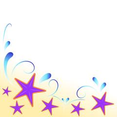 sfondo stelle marine viola