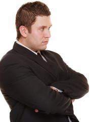 Young man in bad mood, gloomy