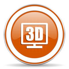 3d display orange icon