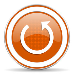 rotate orange icon reload sign
