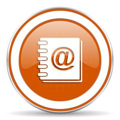 address book orange icon