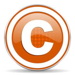 copyright orange icon