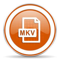 mkv file orange icon