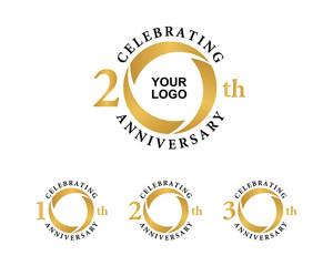 anniversary gold logo 10 20 30
