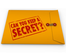 Can You Keep a Secret Yellow Envelope Stamp