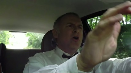 Man People Driving Car Driver Singing Song Tune