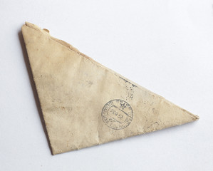 an old Soviet-era triangular 1950s postmarked