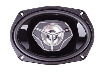 Oval speaker isolated on white background