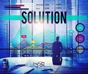 Solution Problem Solving Organization Management Concept