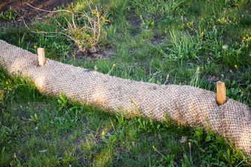 Biodegradable Erosion Control straw sock guard