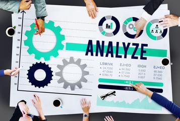 Anslyze Analysis Data Information Planning Concept