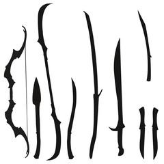 Fantasie Waffen Set der Elfen