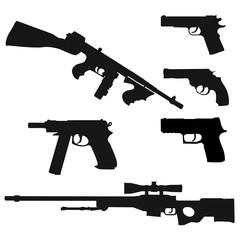 Waffen Silhouetten Set 2