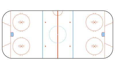 Ice Hockey Rink With Skate Marks