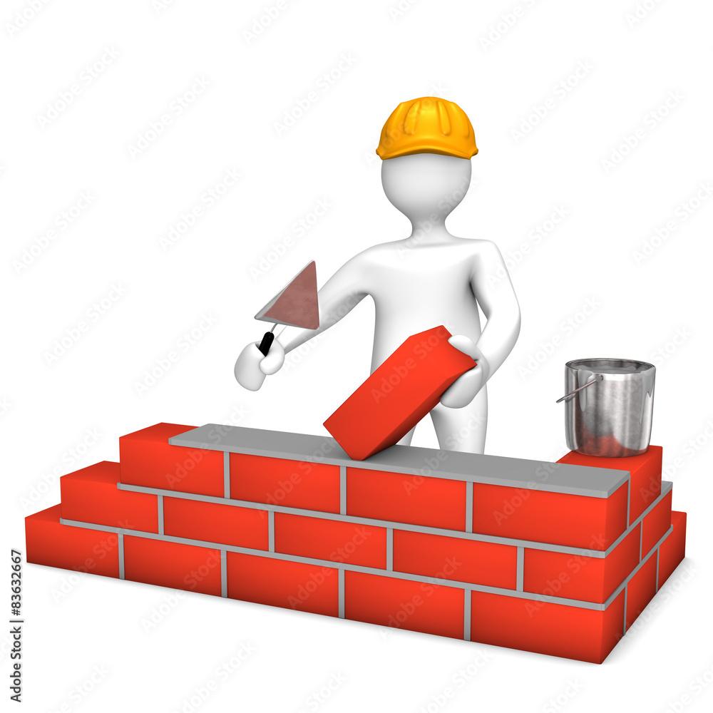 Baustelle Bauträger Männchen Helm Wall Sticker | Wall Stickers