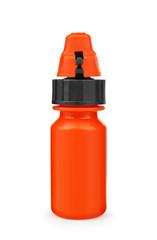 orange medicine bottle on an isolated white background