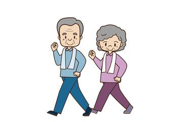 老夫婦のウオーキング