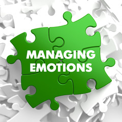 Managing Emotions on Green Puzzle.
