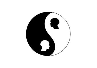 yin yang facce