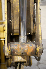 Industrial machinery at building site. Detail