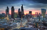 LONDON, UK - JANUARY 27, 2015: London's panorama in sun set.  - Fine Art prints