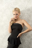 blond young elegant woman