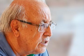 Brazilian senior man close up