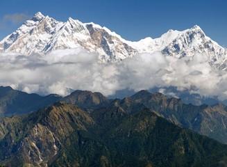 view of Annapurna Himal from Jaljala pass - Nepal